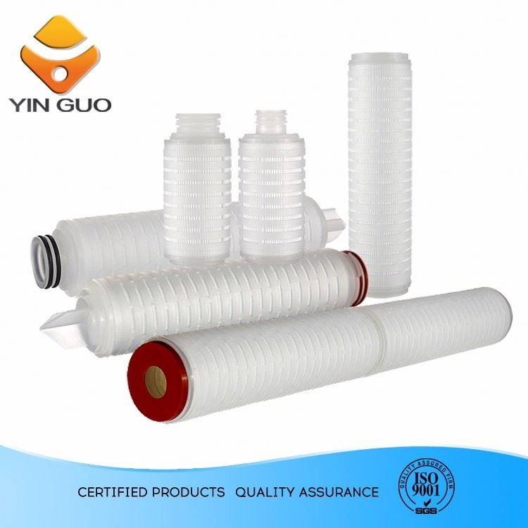 Hot Sale High Filtration Efficiency PP 30 Micron 10 Inch Pleated Filter Cartridge for Water Treatment plant
