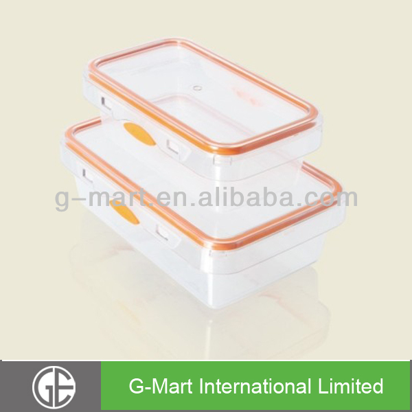 2- Piece Airtight Plastic Food Storage Set, 2014 Newest Model
