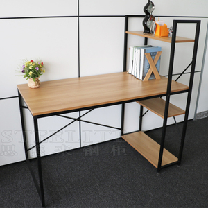 High Quality Home Used Simple Office Desk With Bookshelf
