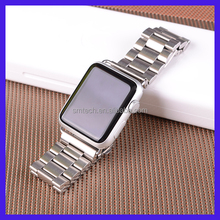 For Apple Watch Loop, For Apple Watch Strap, For Apple Watch Band Three Links Stainless Steel Bracelet for Apple Watch 38mm/ 42m