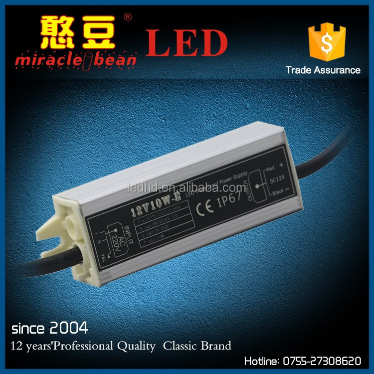 10W led flood light driver led driver constant voltage 120v ac to 12v dc transformer for led strip light