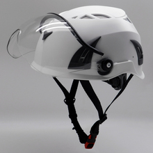 customized ear muffs and visors mounted safety helmet