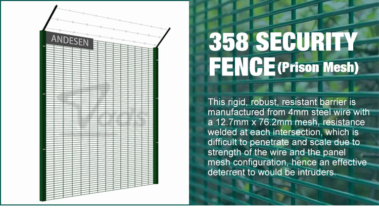 Hot Sale Airport Fence Anti Climb Wire Mesh 358 Fence High Security Fence