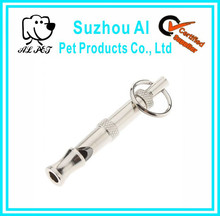 Pet Training Products Silver Ultrasonic Dog Whistle with Customized Lanyard