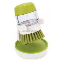 Soap Dispensing Palm Brush With Storage Stand Soap In Kitchen