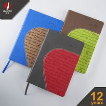 customized custom pu leather notebook Color Blocking HARD COVER NOTEBOOK