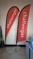 custom made 5.6m cheap knife flag pole with ground spike