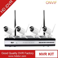 HD iDVR cctv product 4ch 960P wireless kamera set camera with monitor for choose