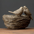 High quality elaborate resin bird's nest crafts for shop decor