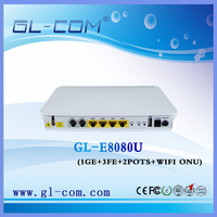 Network Fiber equipment 1GE+3FE+2POTS+WIFI FTTH ONU