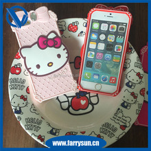 hello kitty custom 3d silicone phone case for iphone 7,design your own silicone phone case