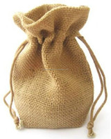easy carrying fashional economical jute drawstring Bags pouch wholesale