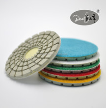 Wet concrete marble stone grinding diamond hand floor polishing pads