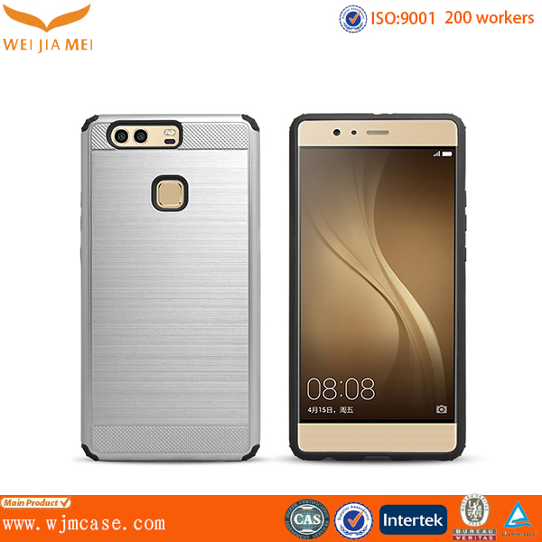 2017 innovative tpu and pc case for Huawei p9 with texture