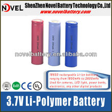 widely used rechargeable cyclindrical 18650 battery for digital products