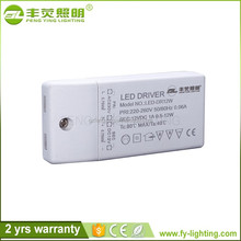 Hot sale AC100-265v DC 12v 500ma 1000ma 1500ma 6watt 12watt 18watt plastic waterproof led driver