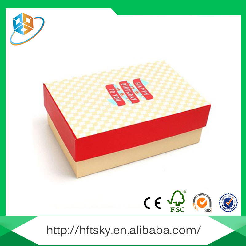 Durable and lightness sample available environmental-friendly packaging box cardboard with certification ISO9001