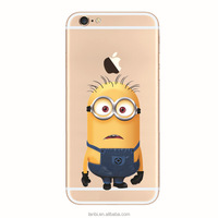 2016 hot selling the Minions pattern soft TPU mobile phone back cover case for iphone 5 5s 6 6s 6plus TPU