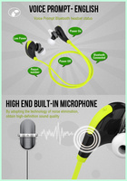 Wireless V4.1 Bluetooth Headphones Noise Cancelling earphonew/ Microphone,Wireless Bluetooth Earbuds for Sport Running Gym