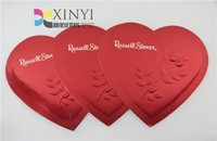 heart shape glossy finish greeting card printing
