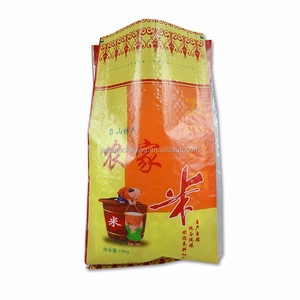 Clear plastic Poly BOPP laminated pp woven bags packing rice, food, feed 50kg 25kg