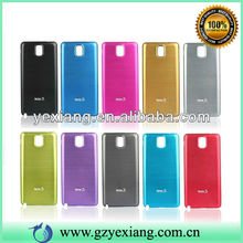 Colorful Decoration Metal Aluminum Hard Case For Samsung Note 3 Battery Cover