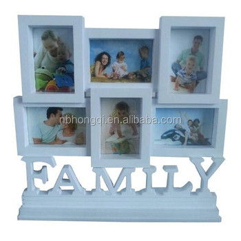 6pc photos New design White color Put on Table Family Combination Photo Frame