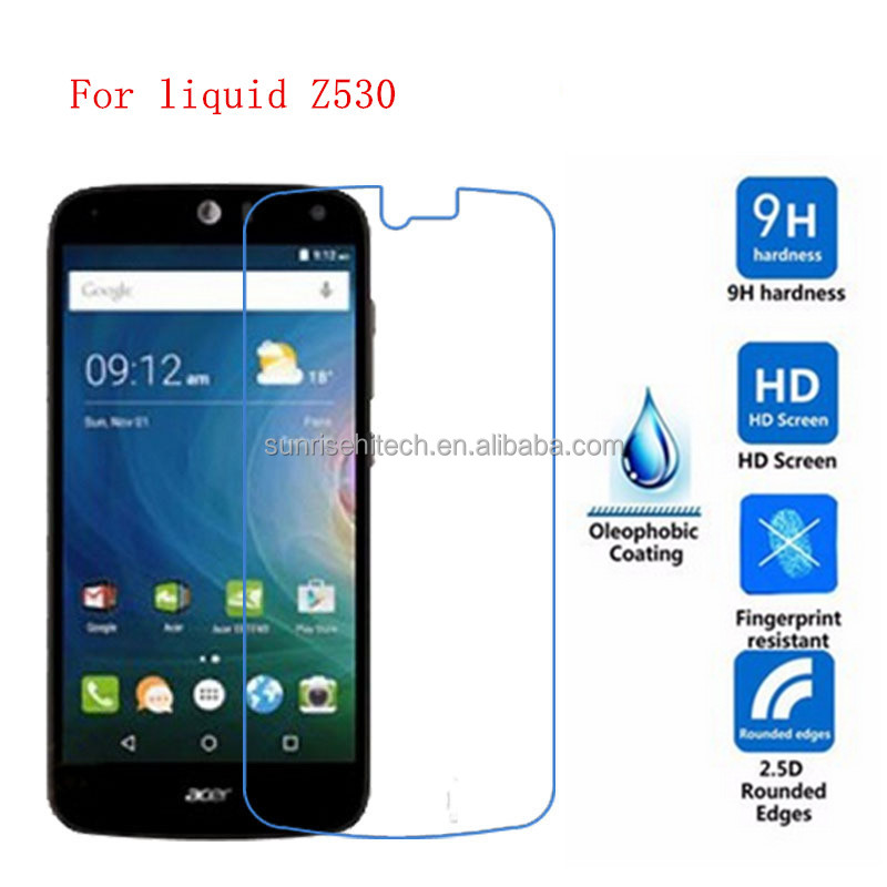 alibaba express hight quanlity 9H 0.33MM tempered glass screen protector for acer liquid z530