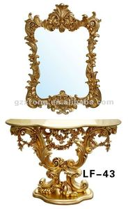 Gold color dressing table designs for bedroom