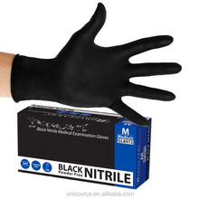 disposable black synthetic latex gloves
