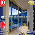 Alufront Wholesale Toughened Glass Sliding Door/Aluminum Frame Door