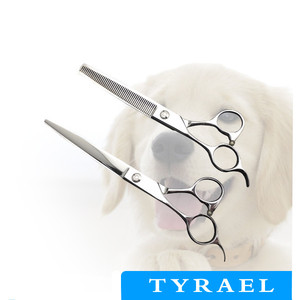Cobalt Steel Left handed Pet Grooming Dog Scissor P982L