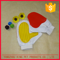 Promotional rubber pet bath grooming glove dog hair brush