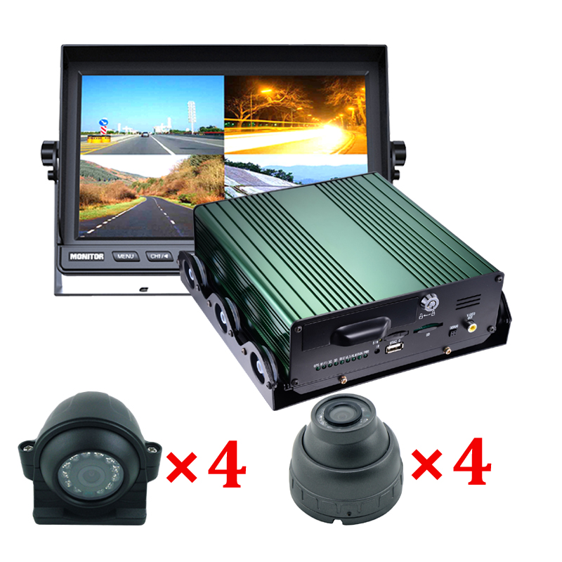 8 channel mobile car dvr recorder with gps 3g wifi optional
