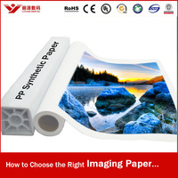 High Quality Waterproof PP Synthetic Paper, Print Paper, Semi-Glossy PP Paper