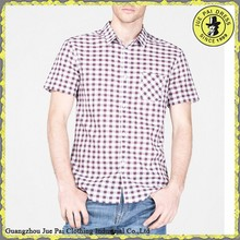 China OEM Check Shirt Supplier/Tall Fitted Modern Men's Check Shirt