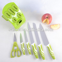 2016 New design 7pcs PP&TPR Handle Kitchen knife set