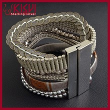 2015 Fashion Jewelry Design French style Memorial bracelet magnetic clasp