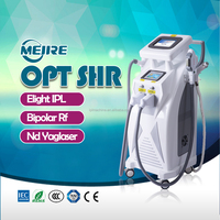 20% discount! OPT SHR IPL &RF Bipolar RF Q Switched Nd: Yag Laser multifunction beauty equipment for salon