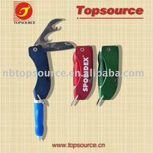 Multi-Tools Ballpen with light witn mini knife with mini car opener