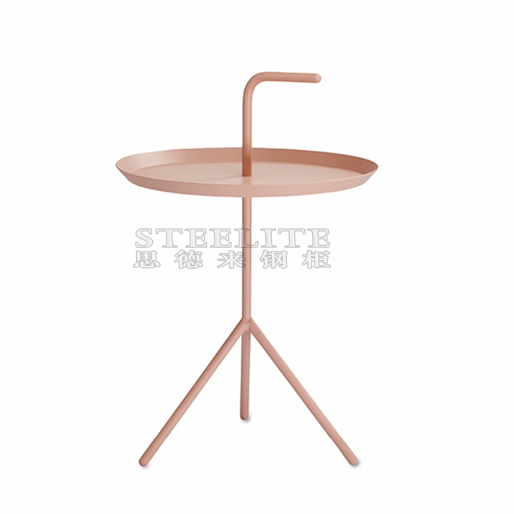 Dining Round Table Metal Tea Table with Three Leg