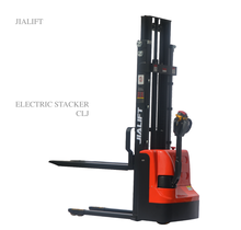1 ton electric powered pallet stacker