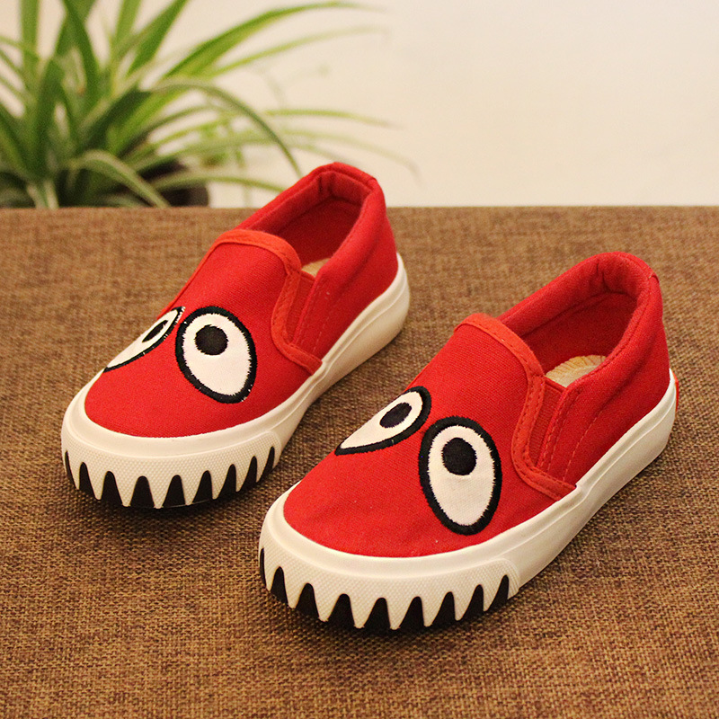 FC2491 summer spring autumn 2016 new style kids shoes kids cartoon canvas shoes