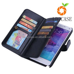 2015 Best sell new flip leather cover wallet phone case for Samsung Note 5