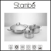 2015 Stambe Best Selling Triply stainless steel first horse cookware set