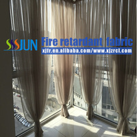 Shower Room New Design Flame Proof Sheer Curtain For Wholesale