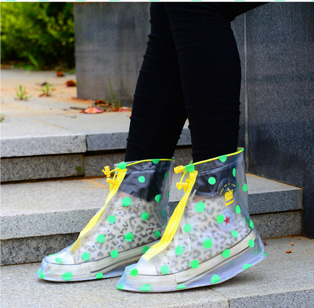 Q1122 transparent wear boots fashion waterproof boots set rain boots over