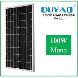 Mono crystalline photovoltaic cell solar panel 100 watt for sola lighting system