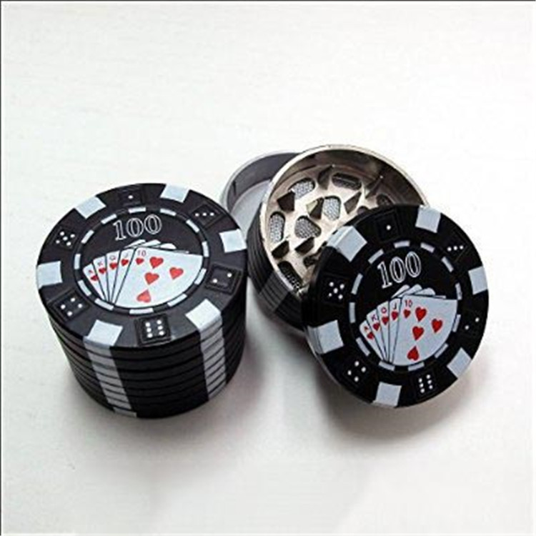 Custom Best Selling Tobacco Grinder Fancy Gamble Chip Herb Grinder for Promotion