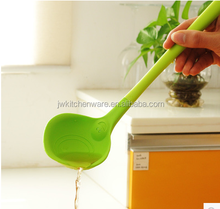 customize silicone punch ladle/plastic spoon/smile face silicone spoon in Ningbo Jiewei